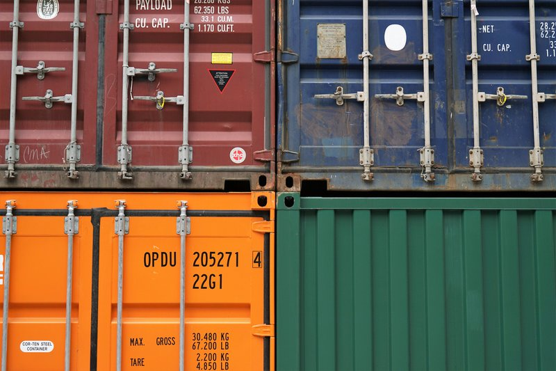 Colorful shipping containers