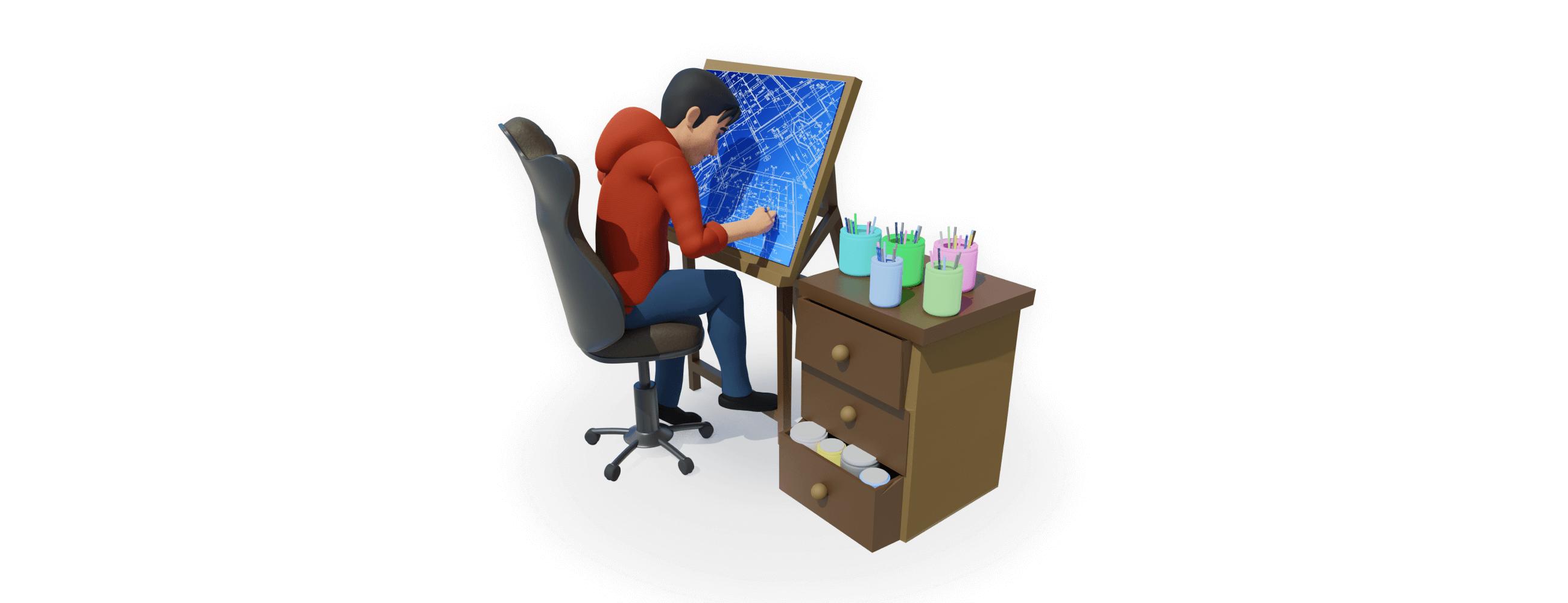 3d character, Sam, gives expert advice for website design