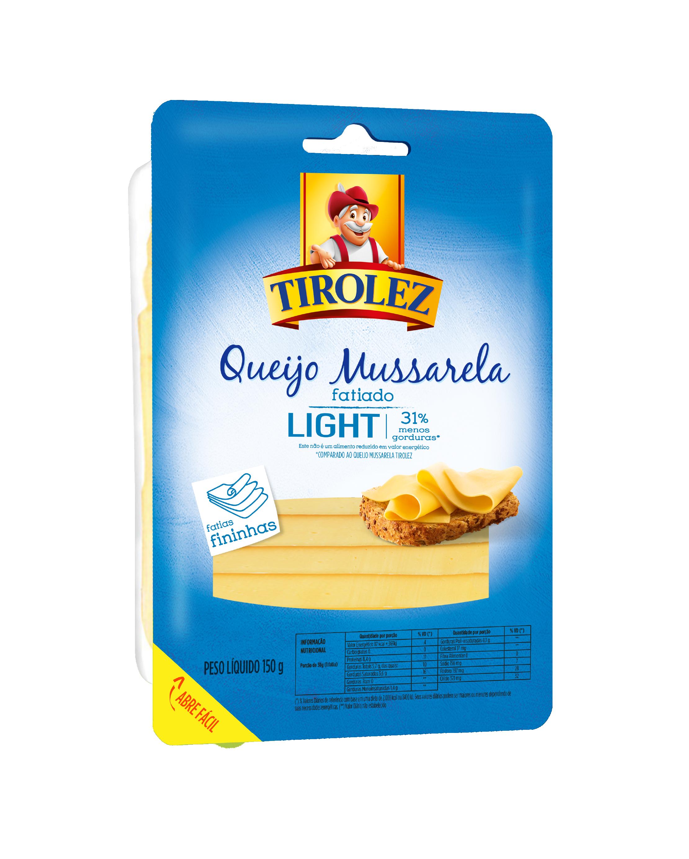 QUEIJO MUSSARELA LIGHT Tirolez 150g