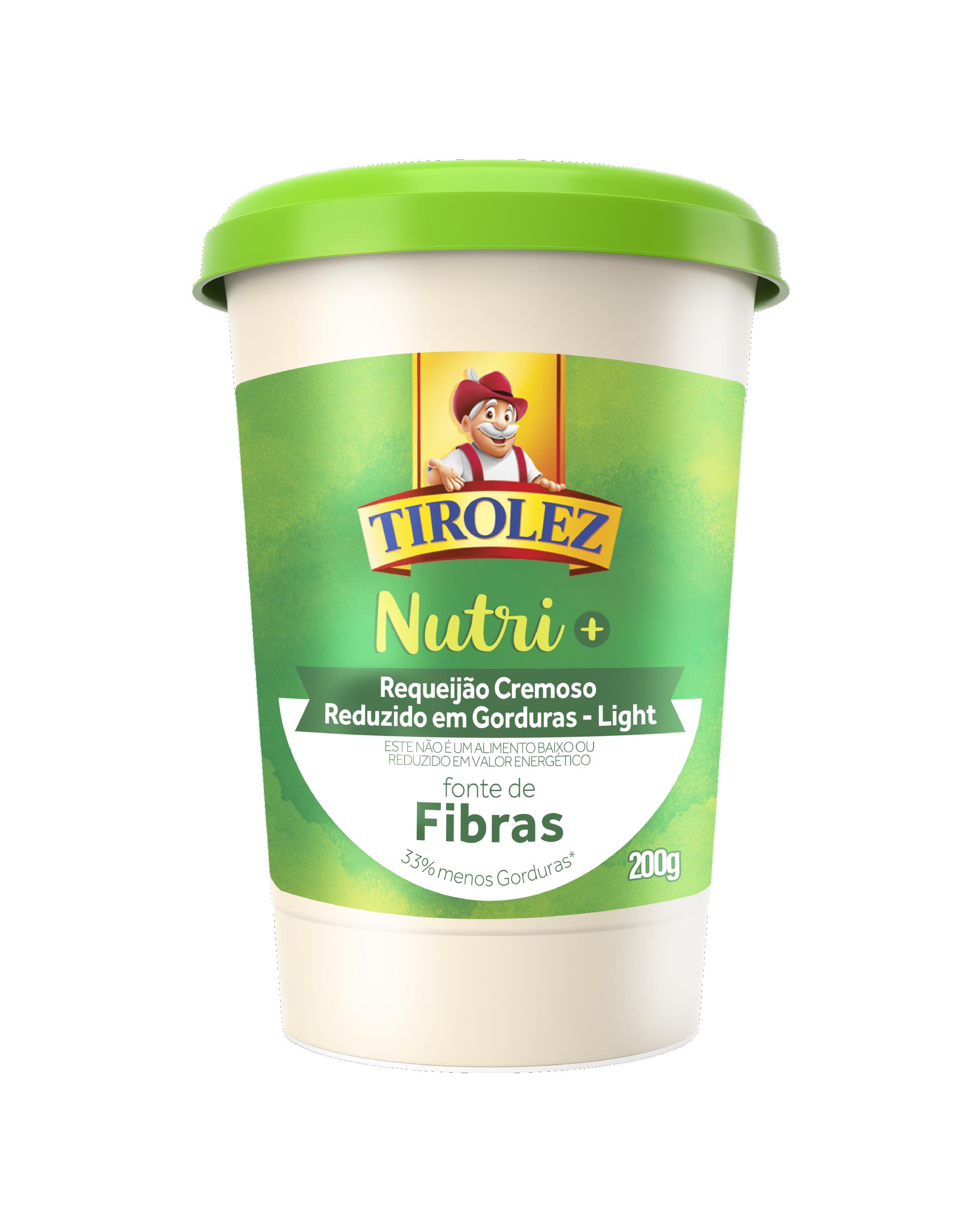REQUEIJAO LIGHT NUTRI+ FIBRAS tirolez 200g