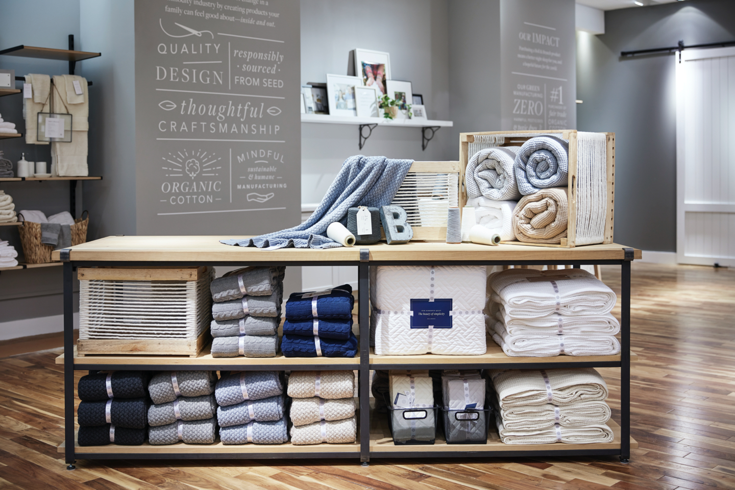 boll and branch store display
