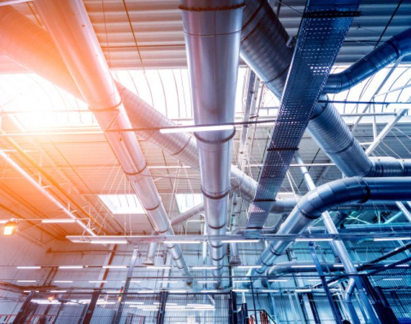 commercial ventilation installation