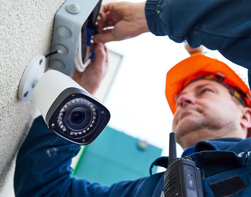 Installing CCTV camera