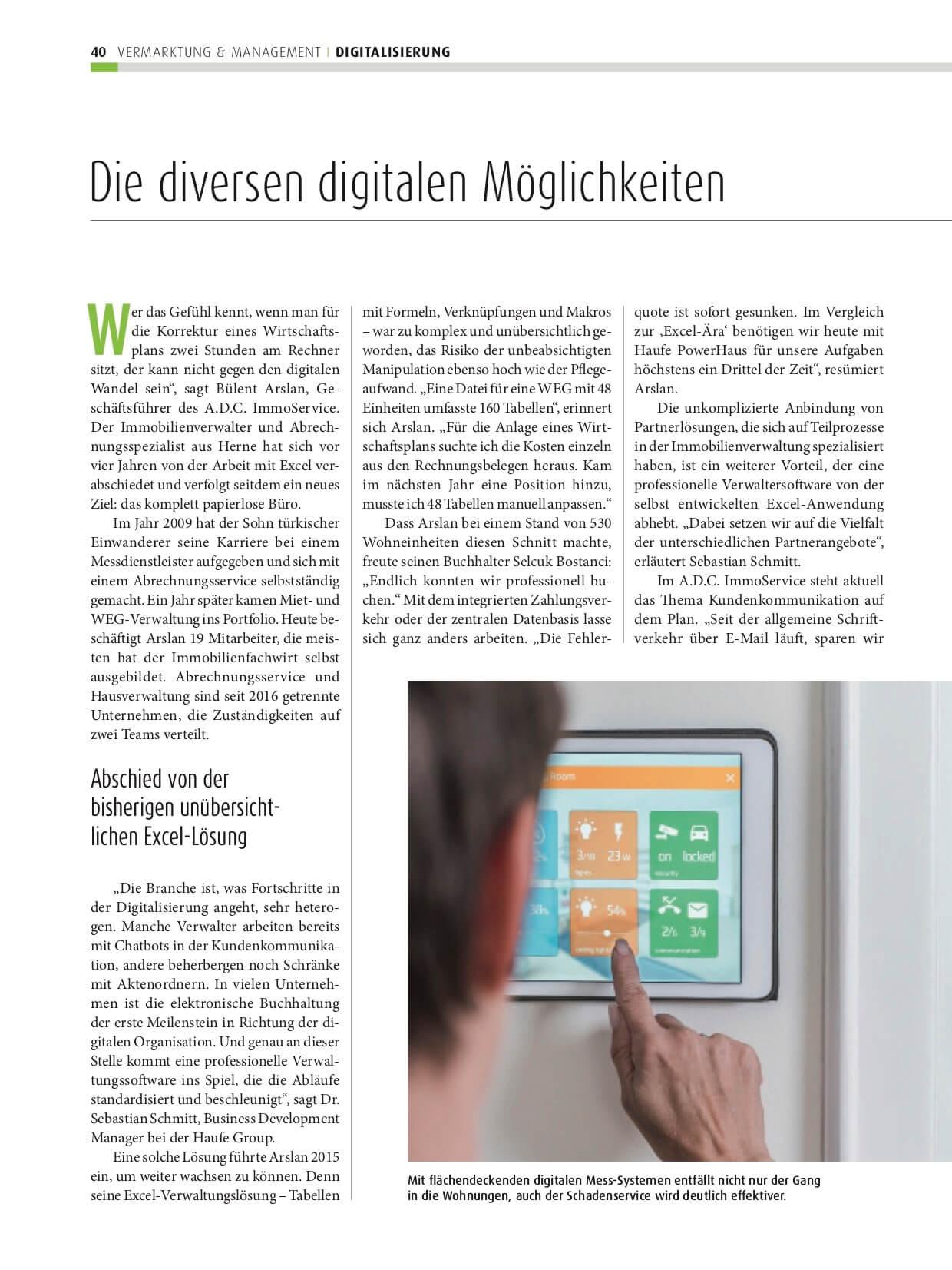 Fachbeitrag Die diversen digitalen Möglichkeiten für Immobilienverwaltungen