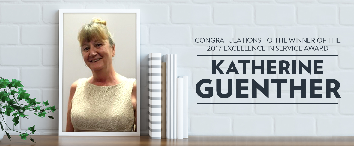 Congratulations To €�excellence In Service' Winner Katherine Guenther
