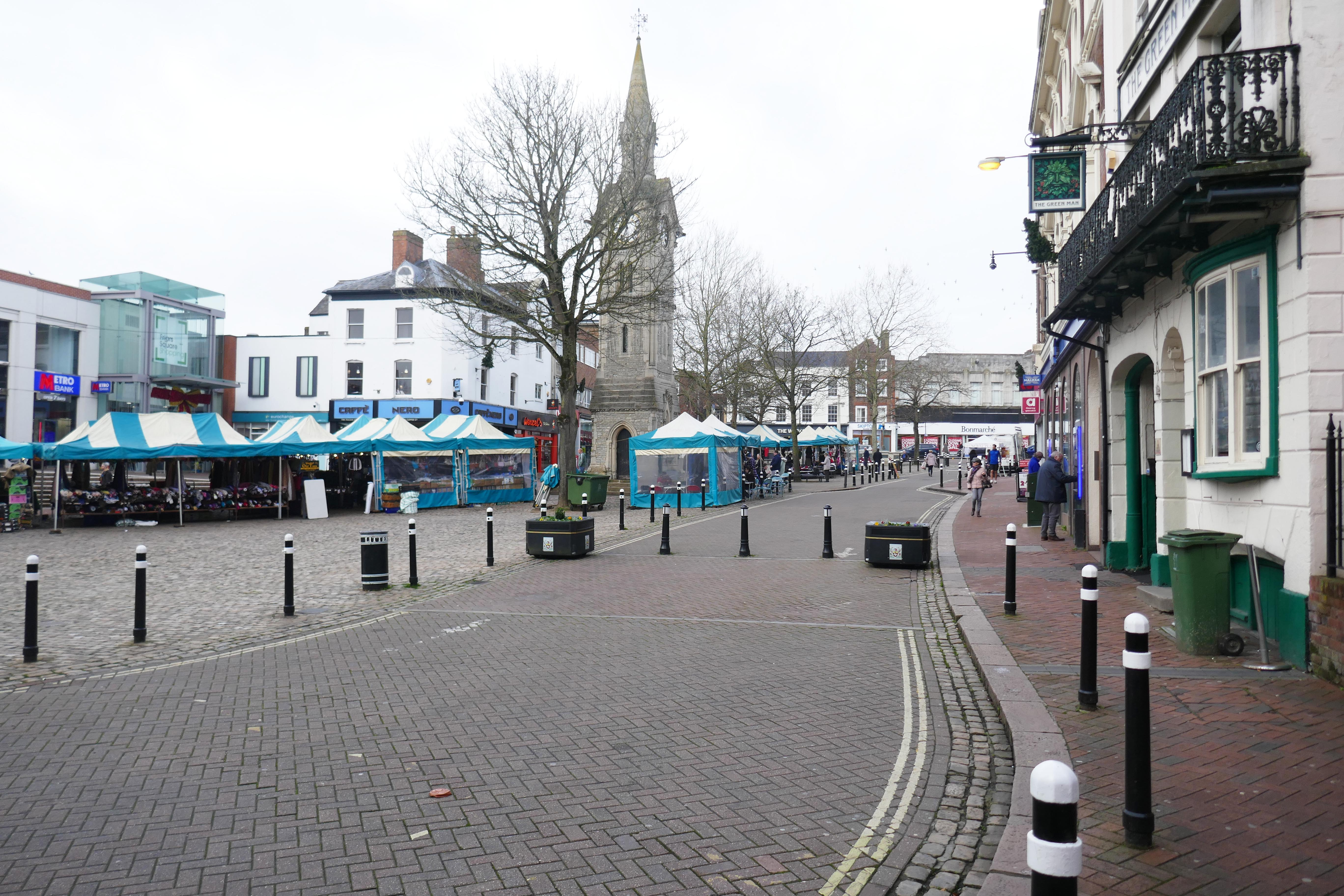 Photograph of Market Square on a market day