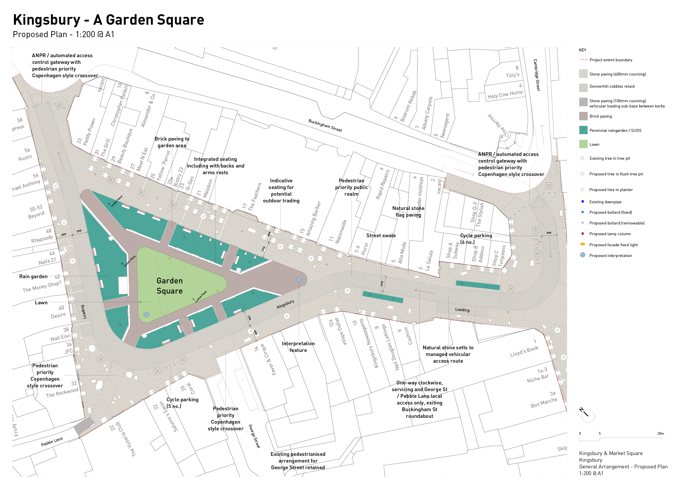 Detail plan of the proposal for Kingsbury