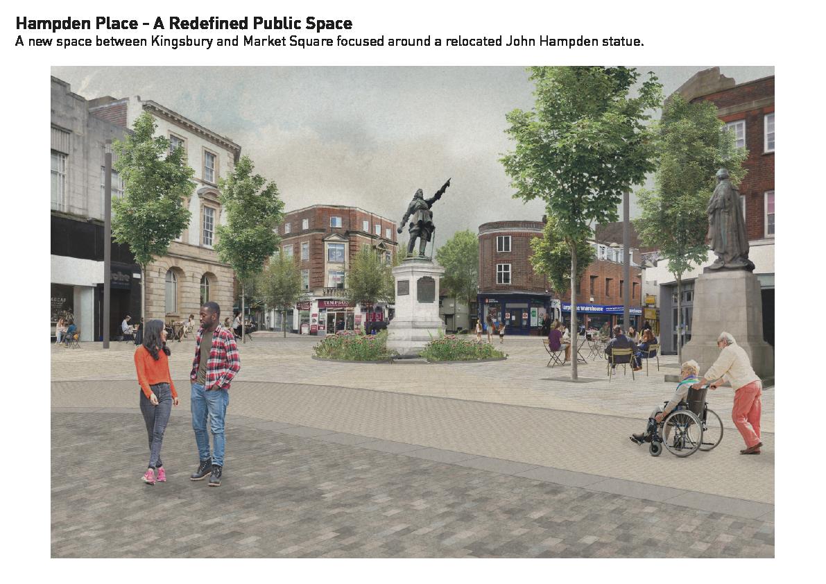 Artist's impression of Hampden Place