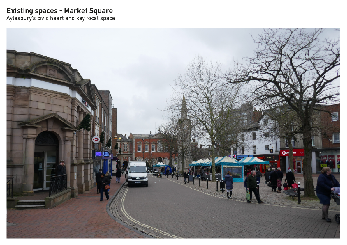 Aylesbury's civic heart and key focal space