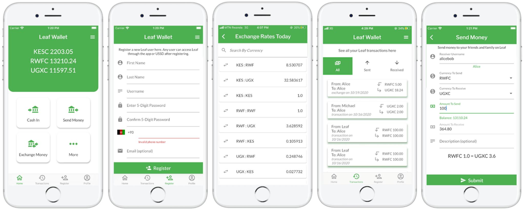 Leaf App Screenshots
