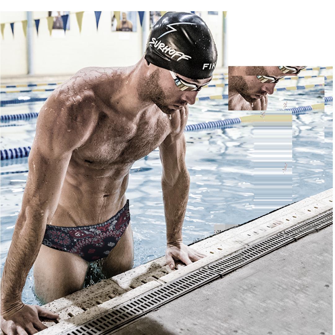 Austin Surhoff swimming