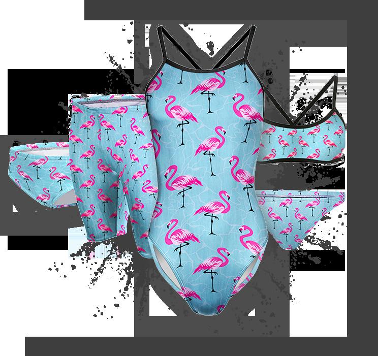 Flamingo summer competitive swim training suit