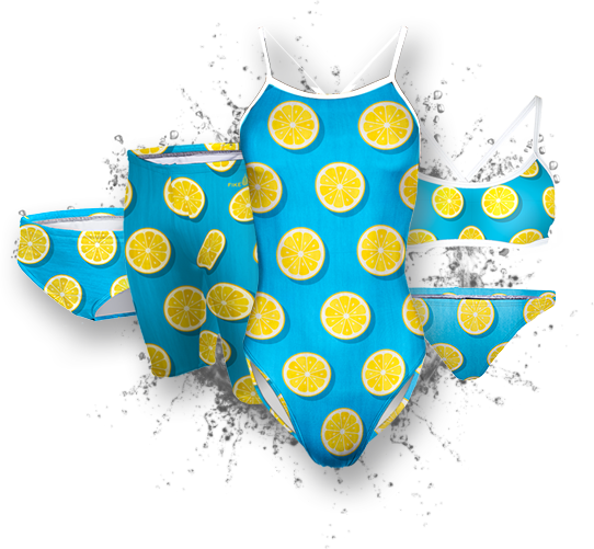 Lemon summer competitive swim training suit