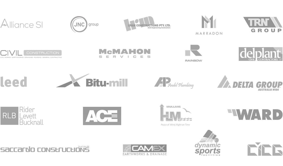 Multiple client logos in a grid in one image.