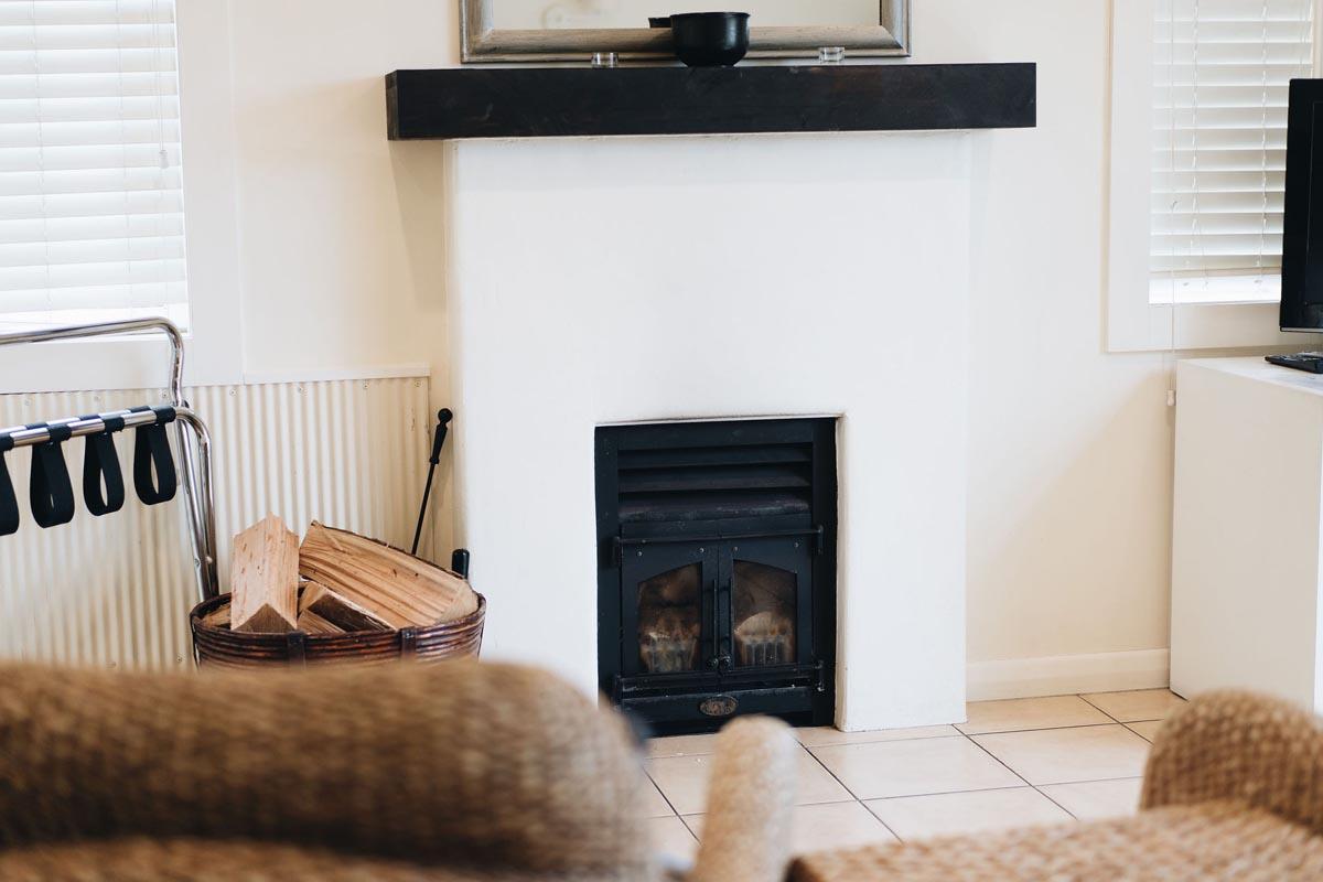 A warm fireplace at Brackenridge.