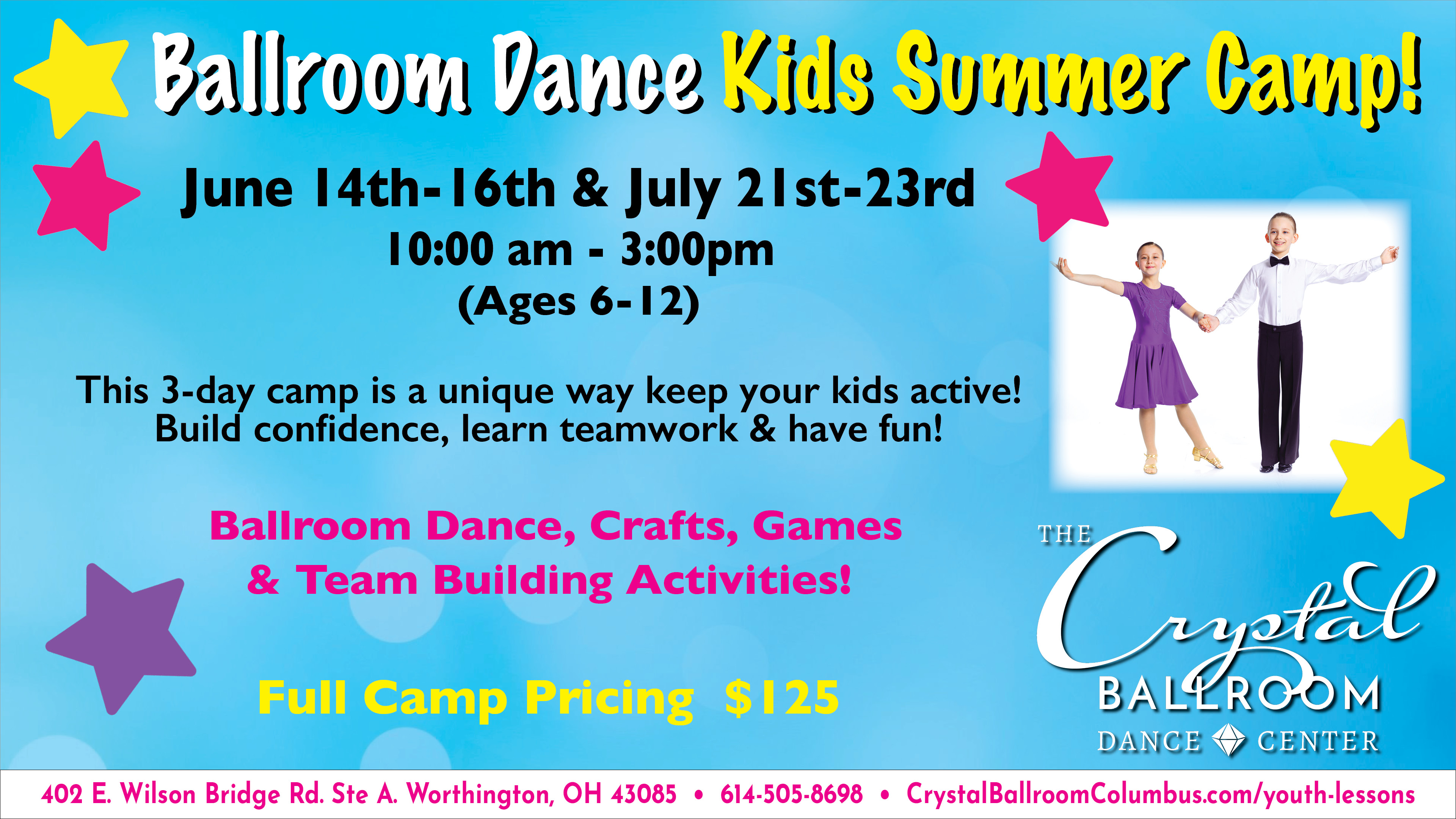 Ballroom Dance Kids Summer Camp (July 21st - July 23rd)