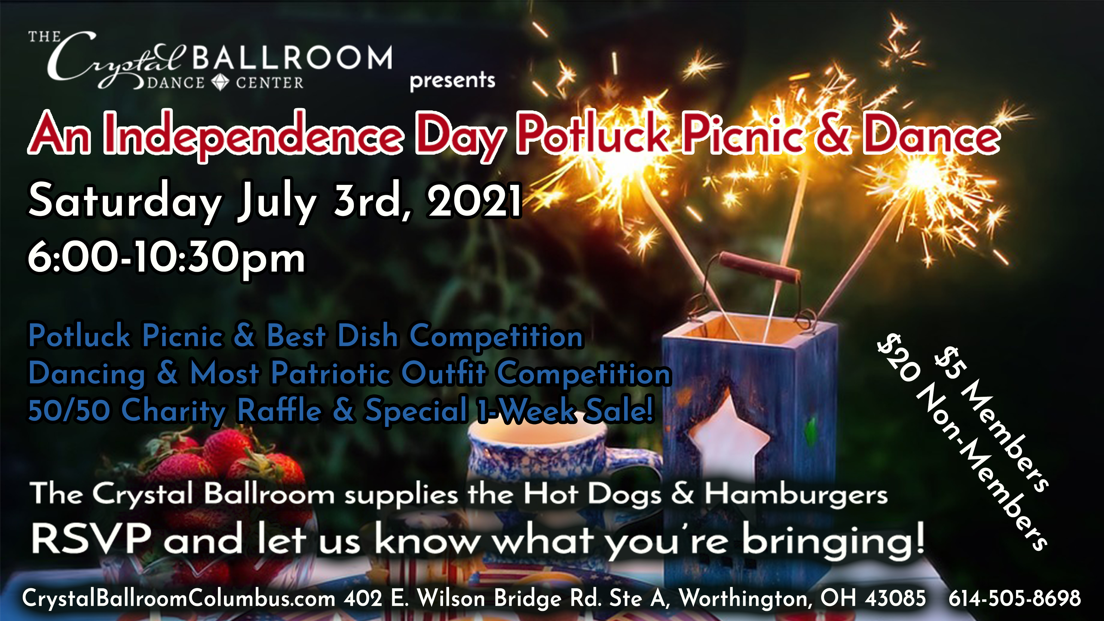 Independence Day Potluck - July 3rd, 2021