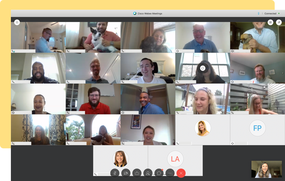 Screen grab of KSL team from a remote video session.