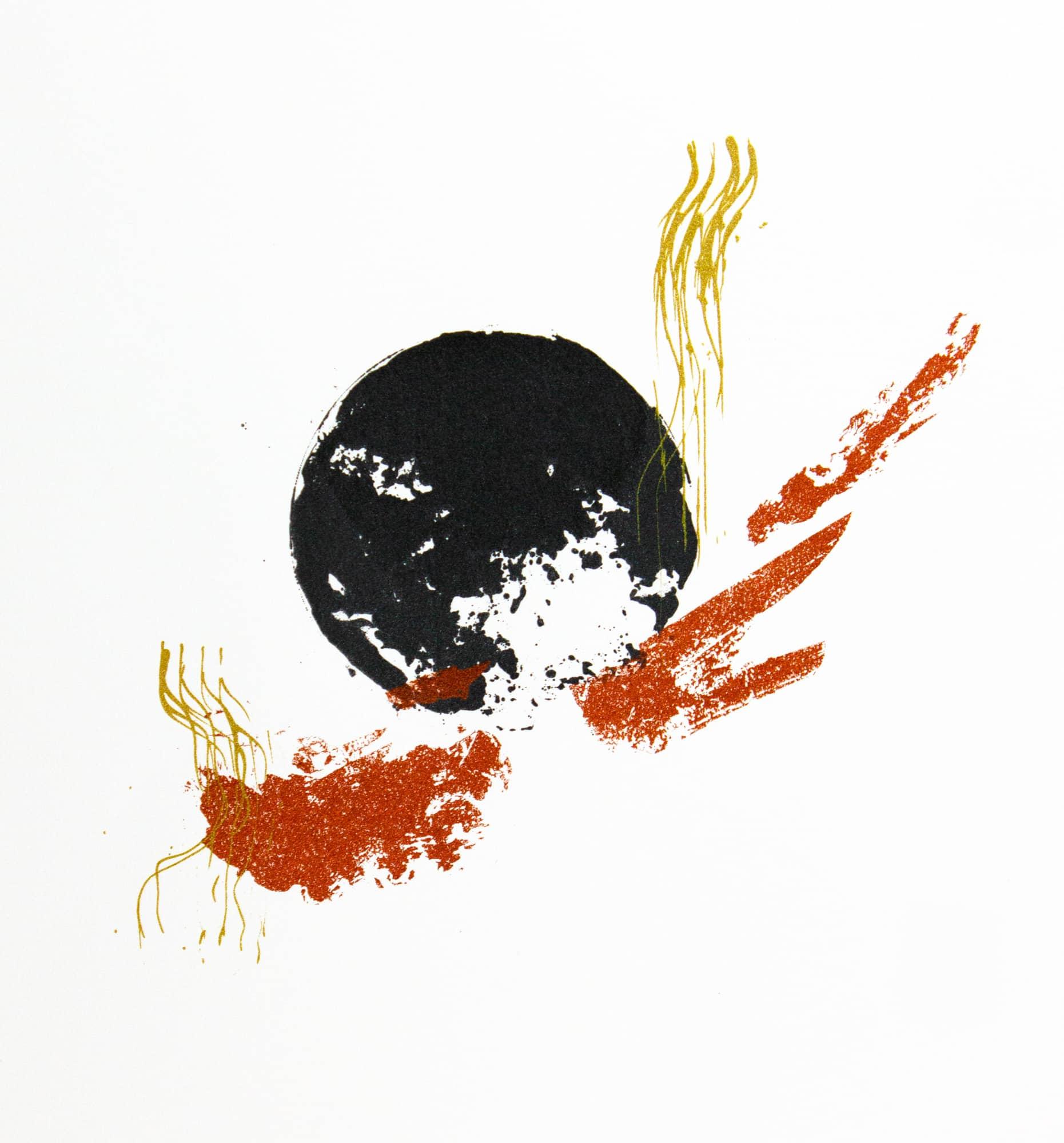 Abstract print of a moon by Kawelina Cruz