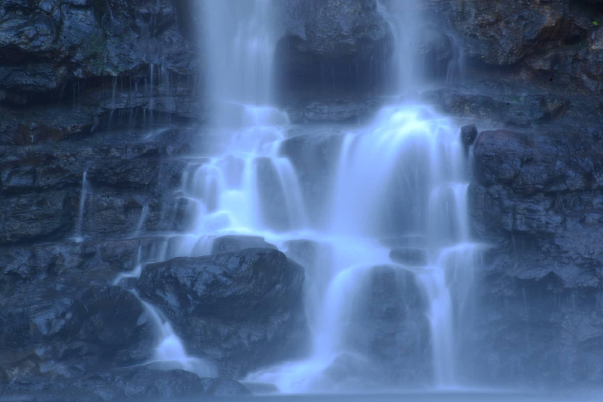 Photograph of a waterfall by Kaoru Coakley