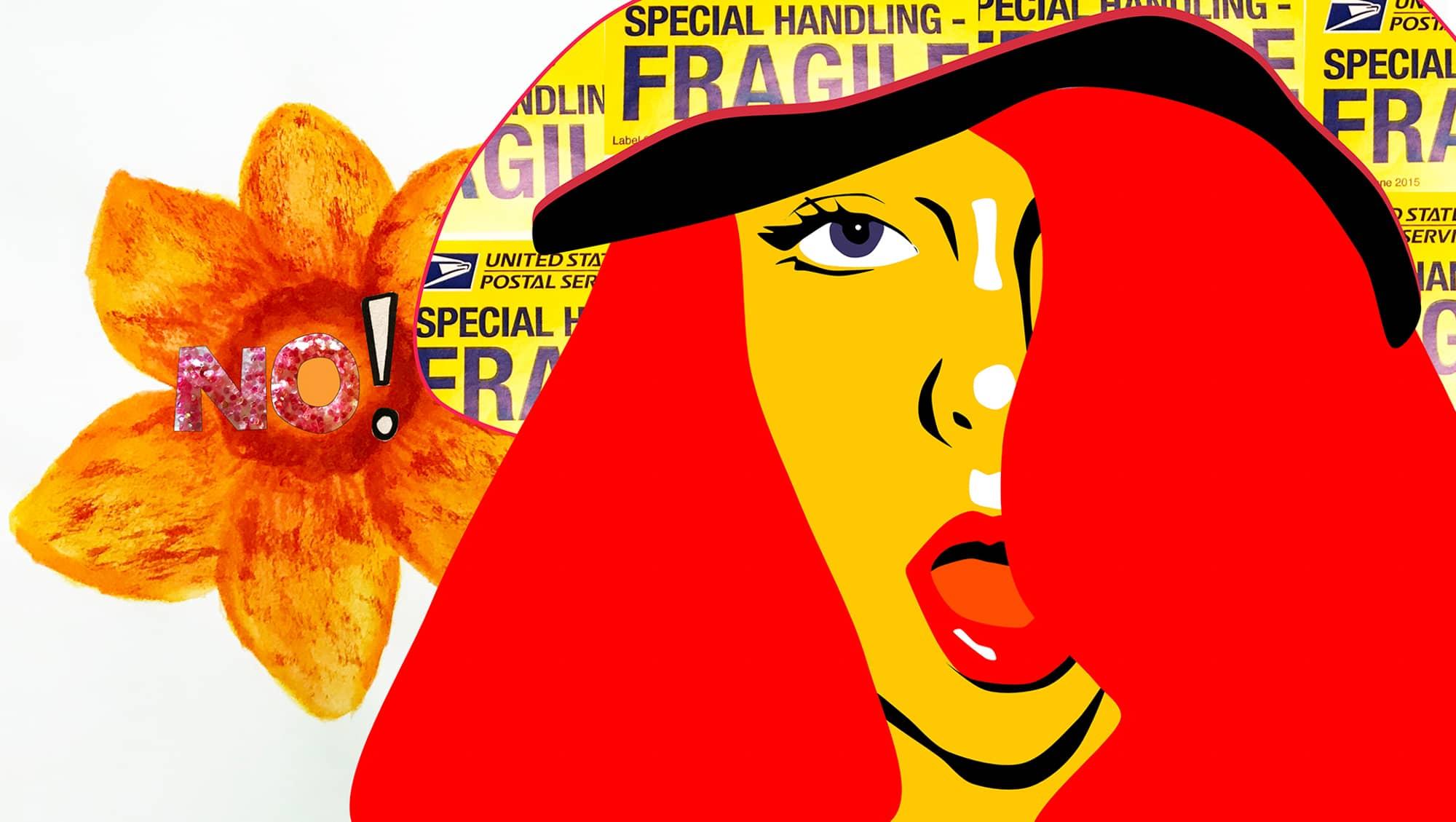 A Digital Collage of a woman by Lauren Lakin
