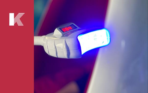 La eficacia de un sistema de diodos que emiten luz para el blanqueo de dientes