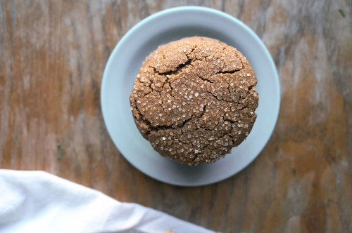 A ginger molasses cookie on a plate
