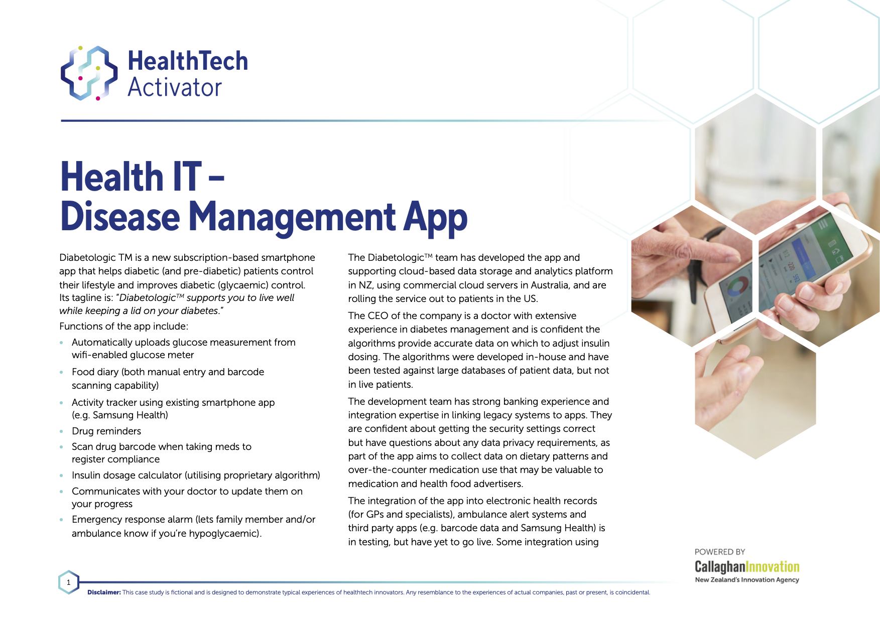 Health IT – Disease Management App