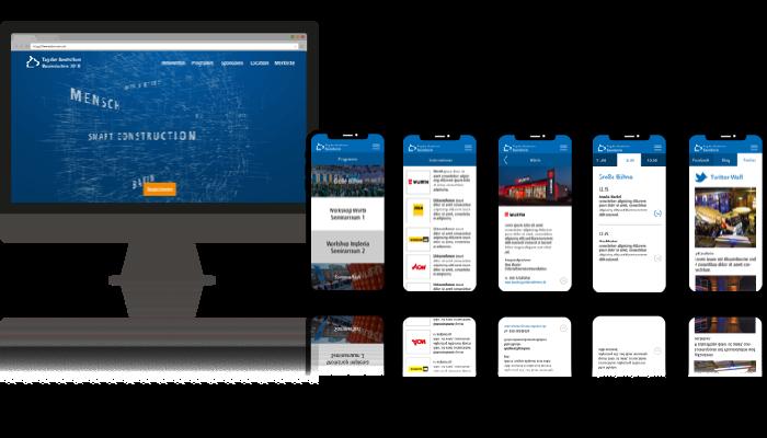 Web- und Mobile-Anwendung für das Jahresevent Tag der Bauindustrie