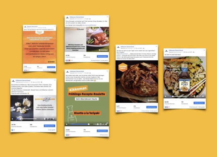 Social Media Assets für Instagram und Facebook für eine junge, urbane Zielgruppe.