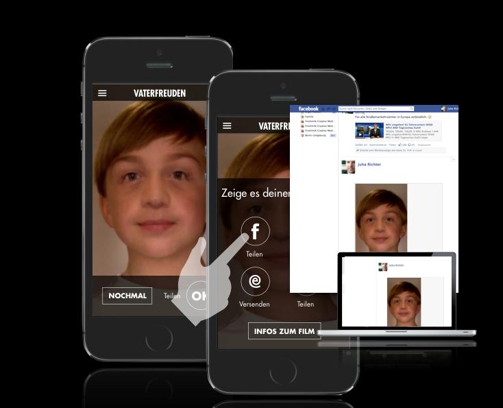 Mobile App Film Vaterfreuden Agentur Uhura