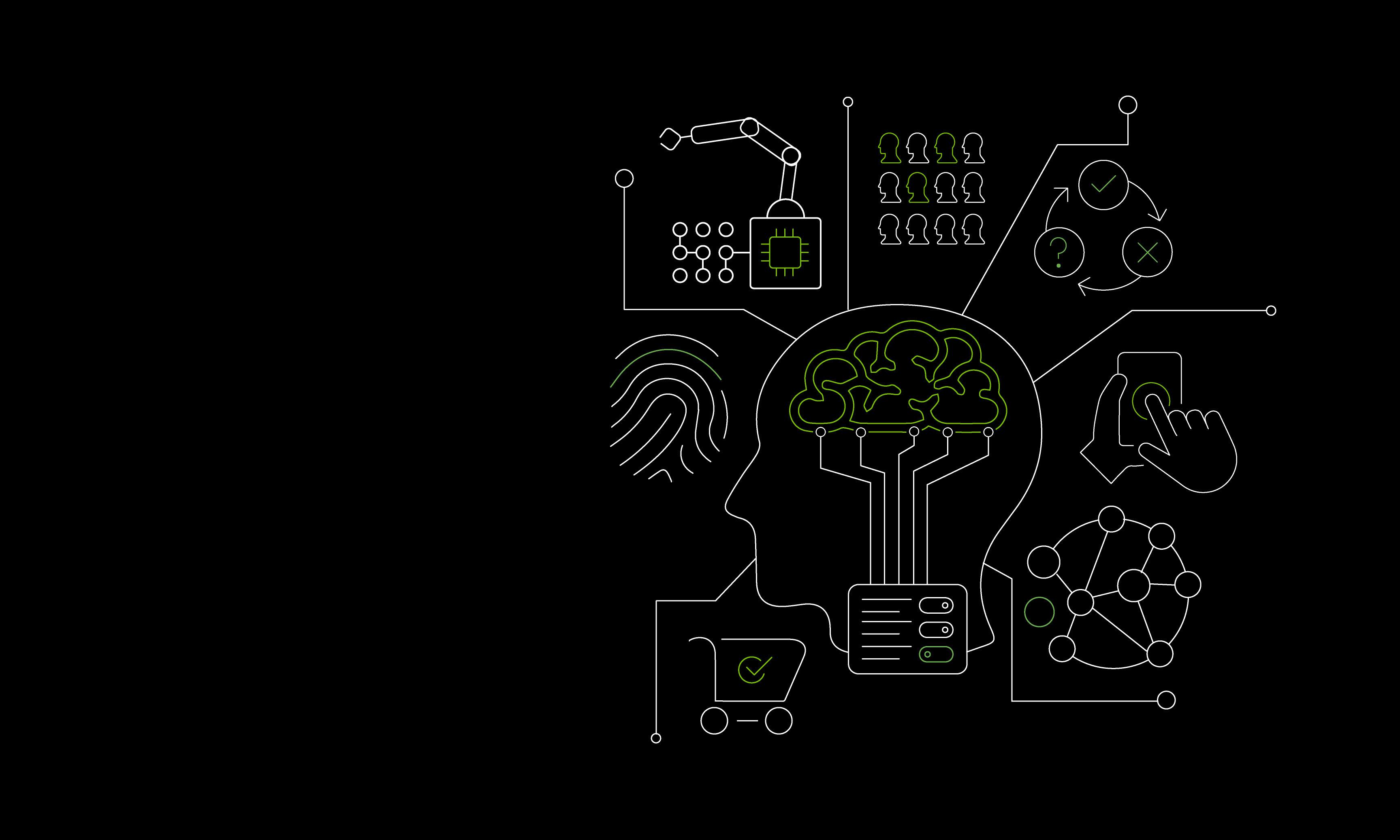 Grafische Darstellung einer künstlichen Intelligenz