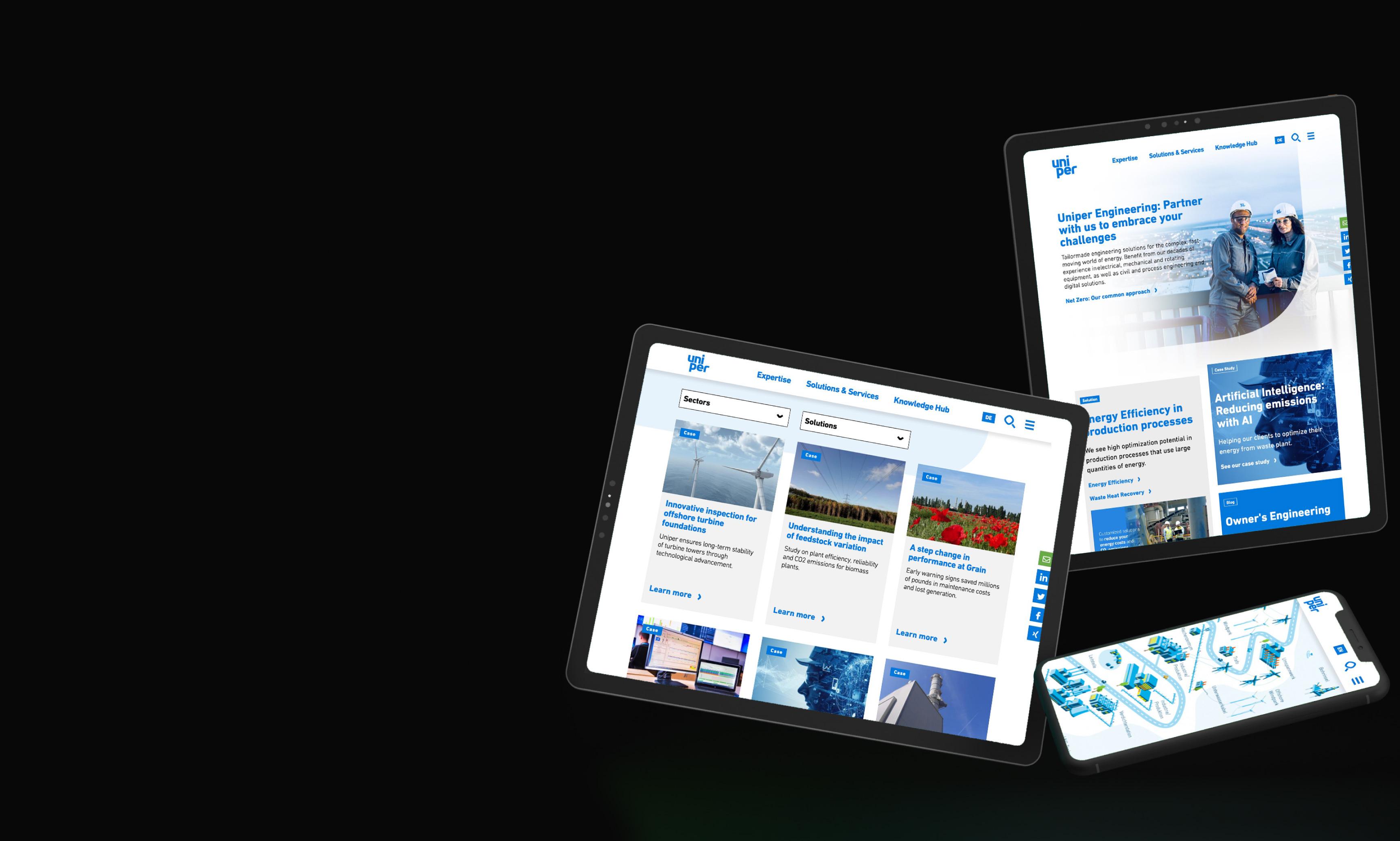 Uhura relauncht für Uniper SE die Website von Uniper Engineering