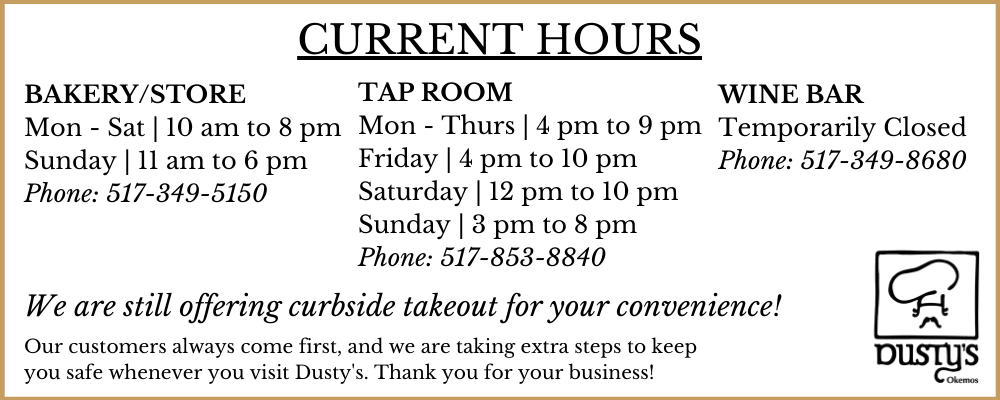 Current Hours for Dusty's Cellar