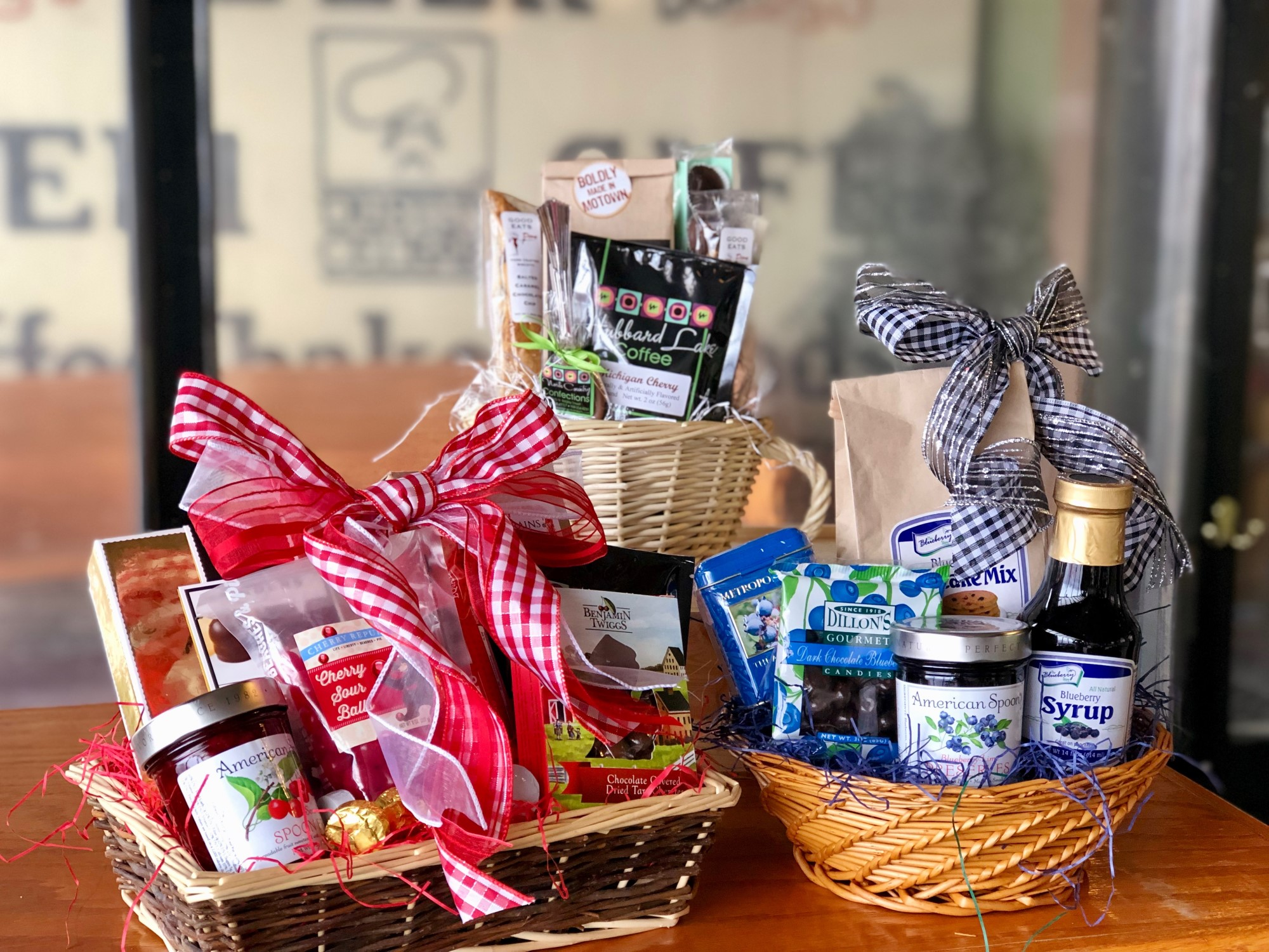 Michigan Cherry, Coffee, & Blueberry Lovers Baskets