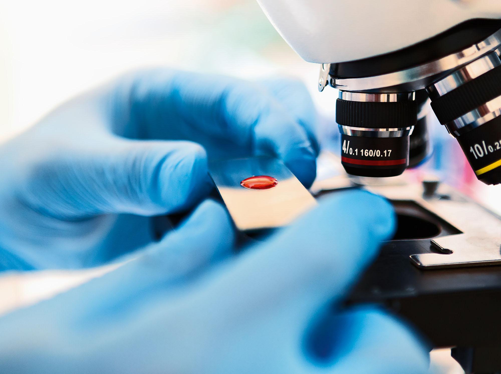 Hands on microscope
