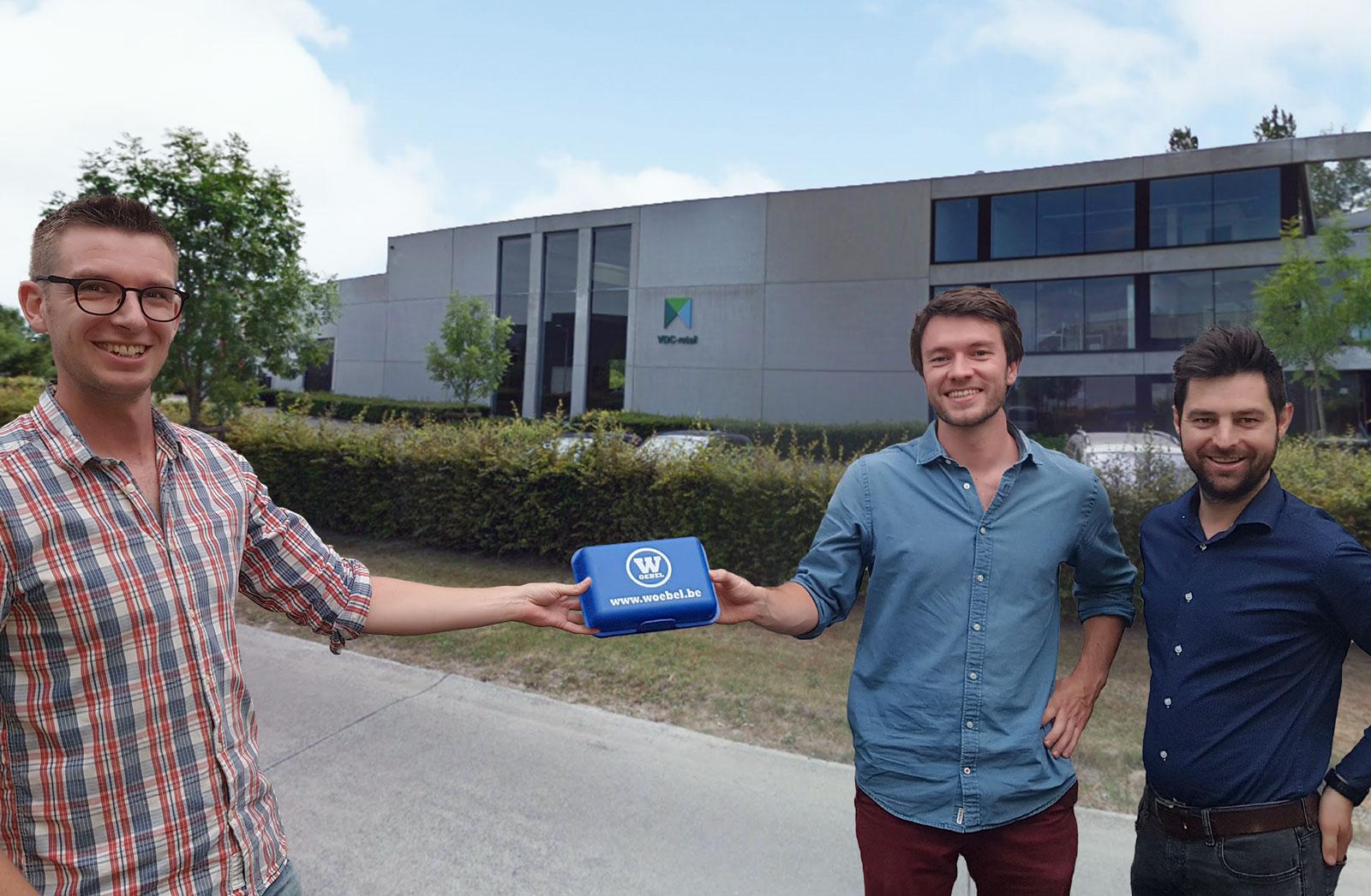 Jonas Van Gool, Lukas Van Orshoven en Niels Vanden Buverie van Crowdselling