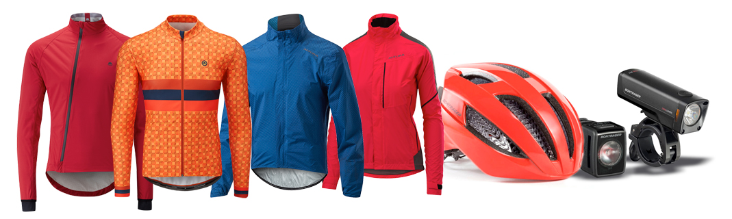 Selection of cycle clothing and accessories