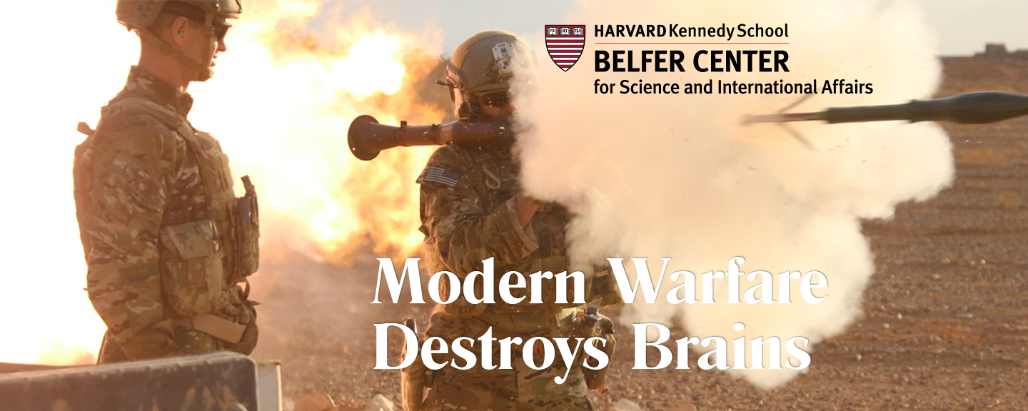 Harvard Kennedy School paper titled Modern Warfare Destroys Brains, recommends Wave Neuro technology to DOD & SOCOM for the treatment of Traumatic Brain Injury (TBI