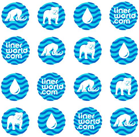 Icons for Liner World branding