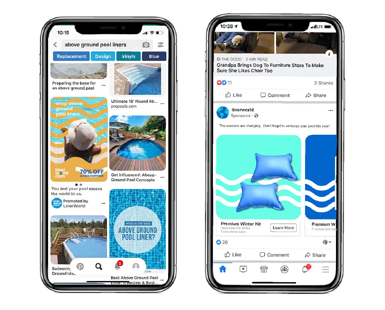 Liner World mobile website mock-up