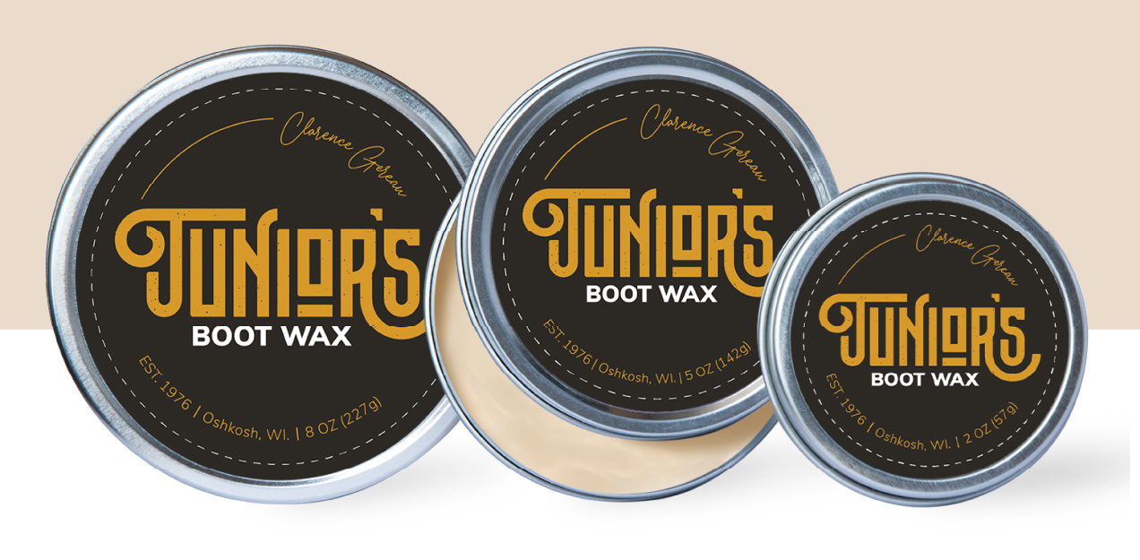 Junior's Boot Wax tins