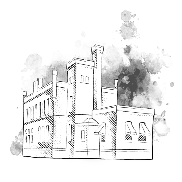 A sketch of the Quill Creative Studio building