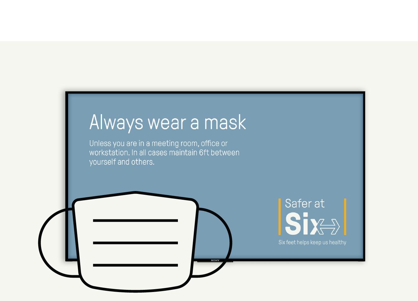Safer at 6 mask poster.