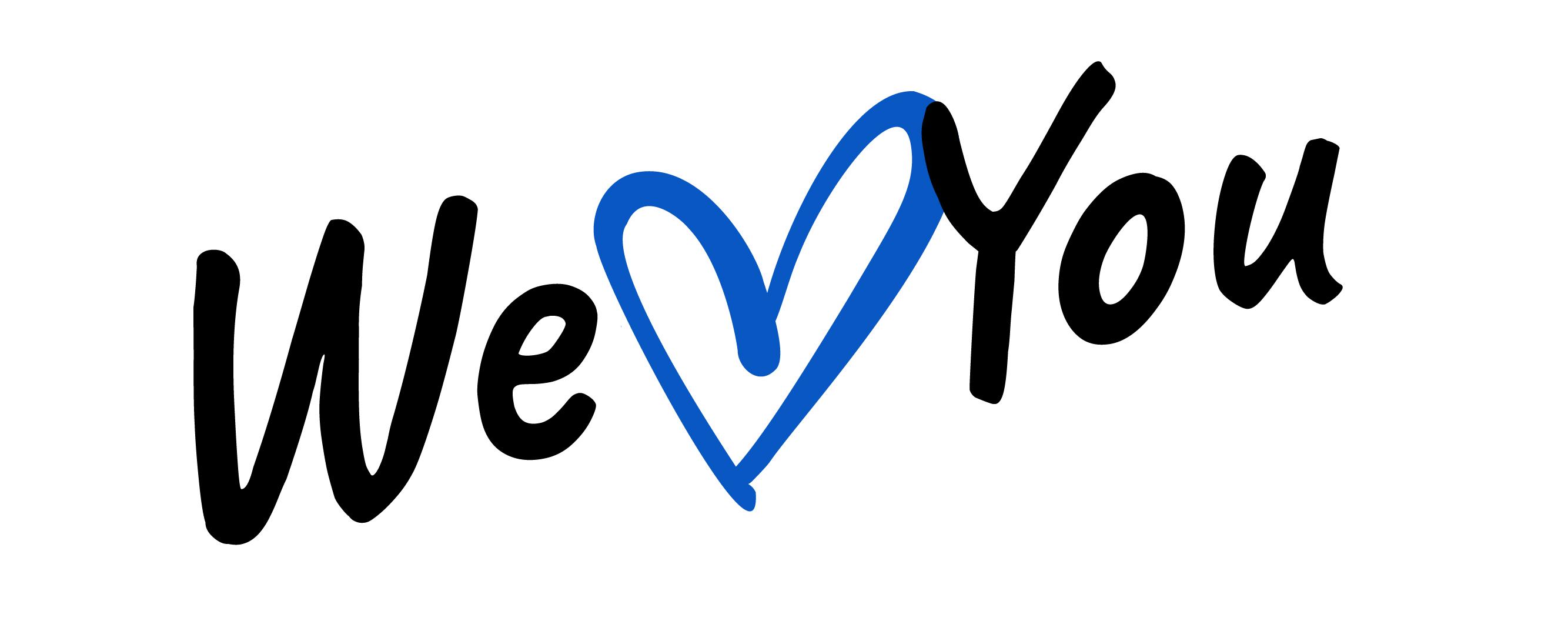 We love you logo.