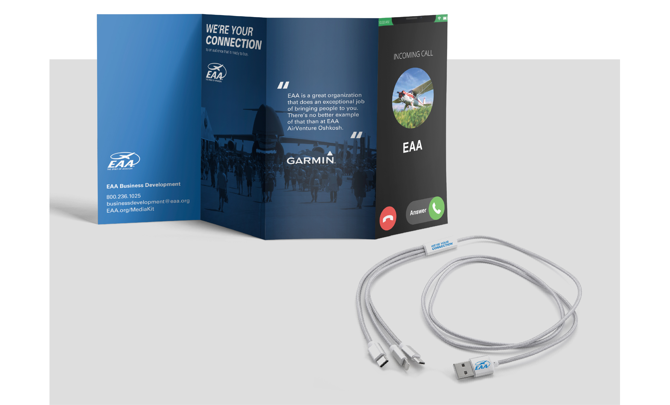 EAA brochure and phone cord