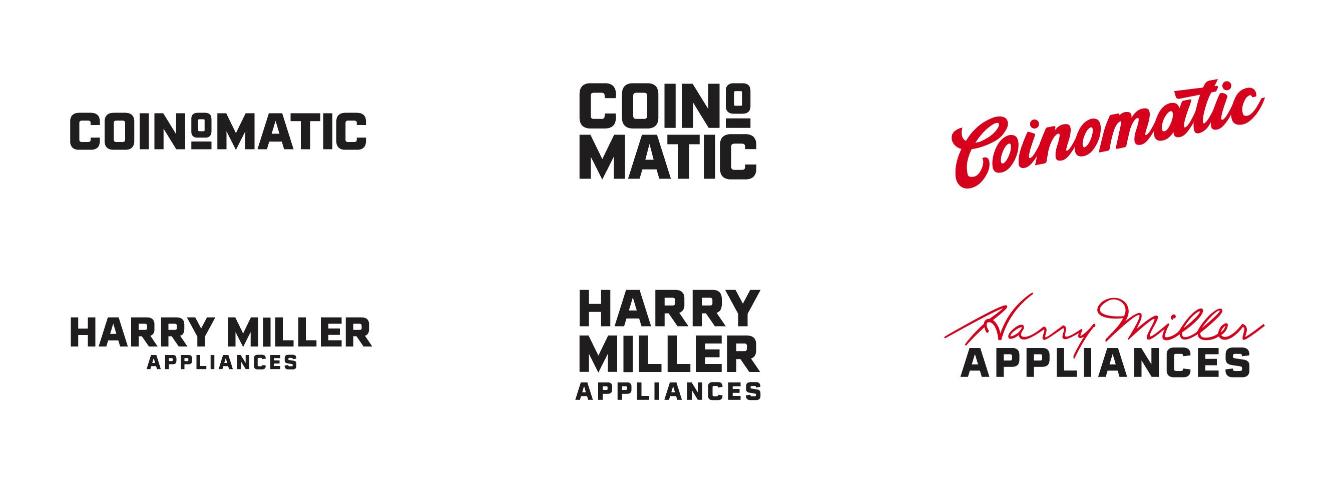Coin-O-Matic 6 logo lockups.