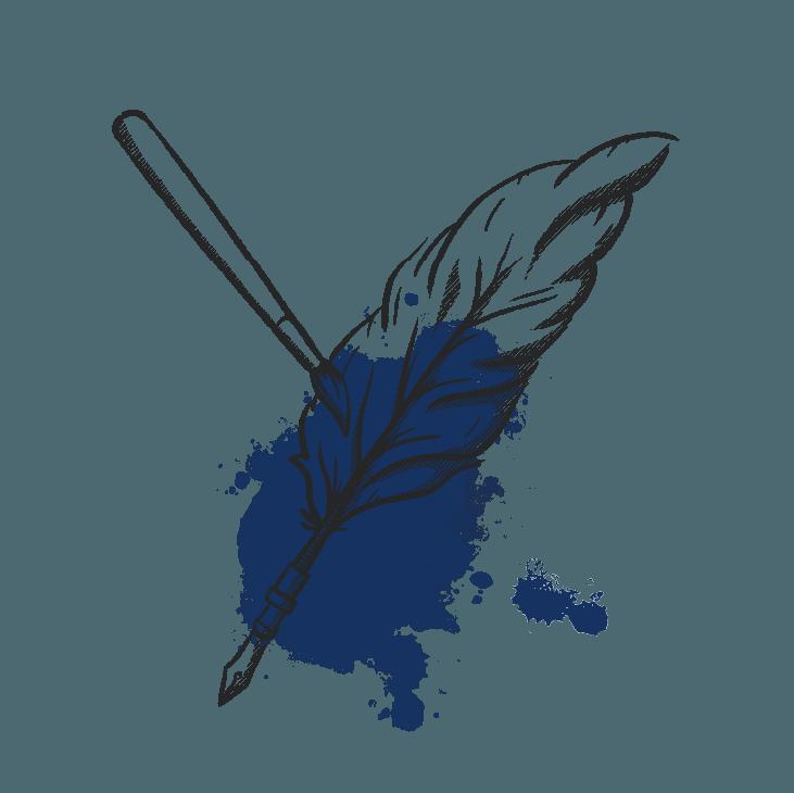 Bran identity quill pen