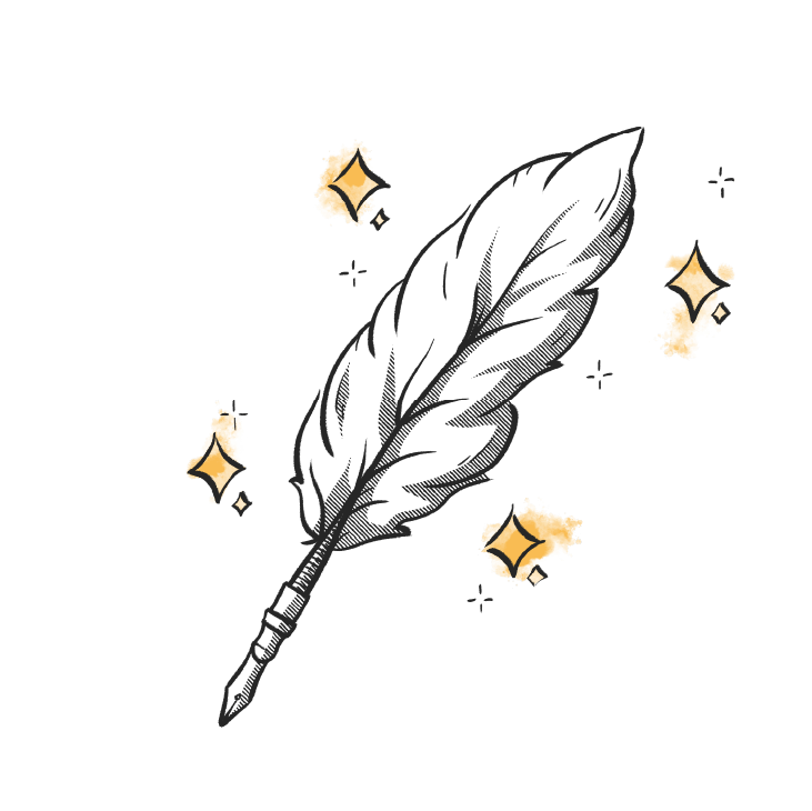 Brand Support quill pen