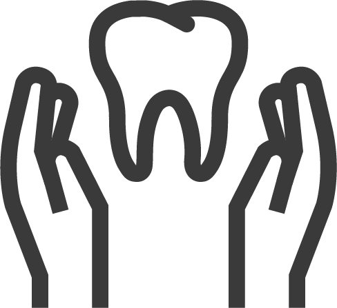mouth holding a tooth icon